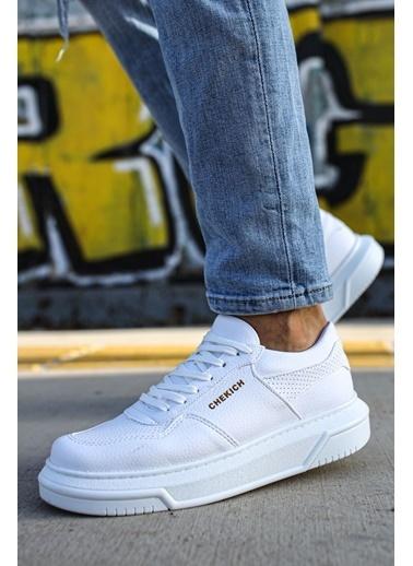 Chekich CH075 ıpekyol Beyaz Taban Erkek Ayakkabı BEYAZ Beyaz